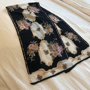 Liz Claiborne Rose Printed Scarf 100% Silk